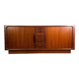 Dyrlund Rosewood Credenza With Tambour Doors