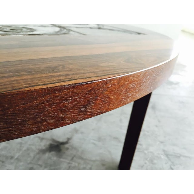 Vintage Danish Rosewood & Tile Top Coffee Table - Image 7 of 9