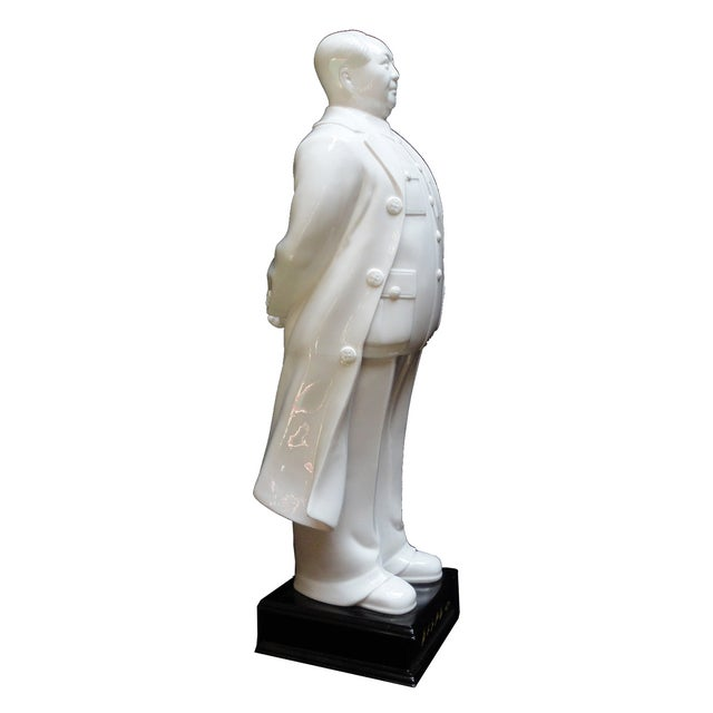 White Porcelain Chairman Mao Standing Figure - Image 1 of 4