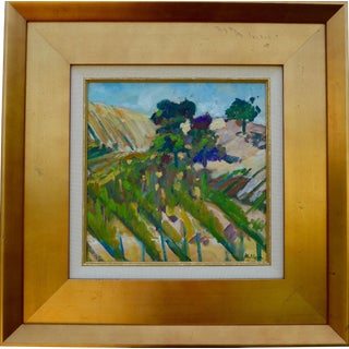 """Martha Holden """"Vineyard in Paso Robles"""" Plein Air Oil Painting"""