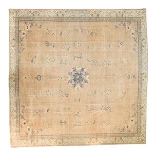 "Antique Distressed Chinese Square Carpet - 14'1"" x 14'1"""