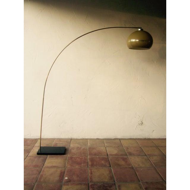 Kartell Style Mushroom Plastic Floor Arc Lamp Chairish