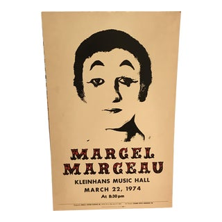 1974 French Marcel Marceau Poster
