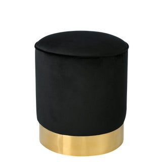 Contemporary Black & Gold Stool