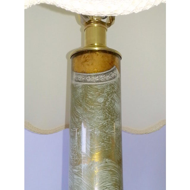 Image of Mid-Century Table Lamps Eglomise Style