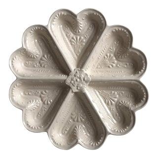 English Salt Glazed Stoneware Heart Dish