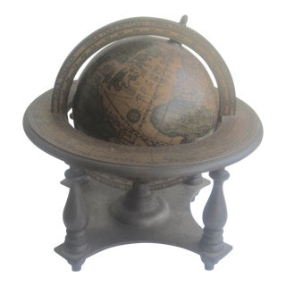 Vintage 1970's German Wood Music Globe