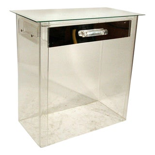 1960s Charles Hollis Jones Style Lucite Vanity Entry Console