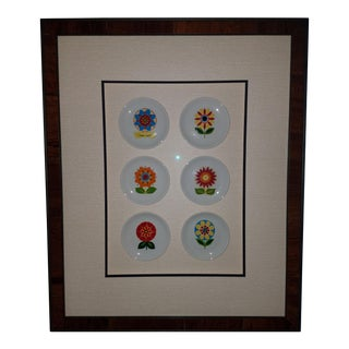 Vintage Villeroy & Boch Framed Flower Plate Collection