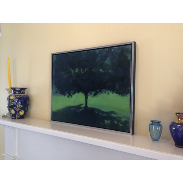 Image of Original Landscape Painting of a Tree in Summer
