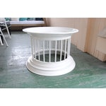 Image of West Elm White Lacquered Side Table