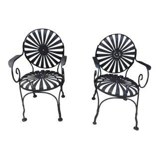 Francois Carre Sunburst Chairs - A Pair
