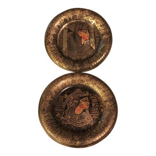 Decorative Egyptian Wall Plates - A Pair