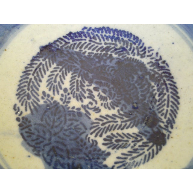 19th Century Blue & White Oriental Bowl - Image 8 of 9