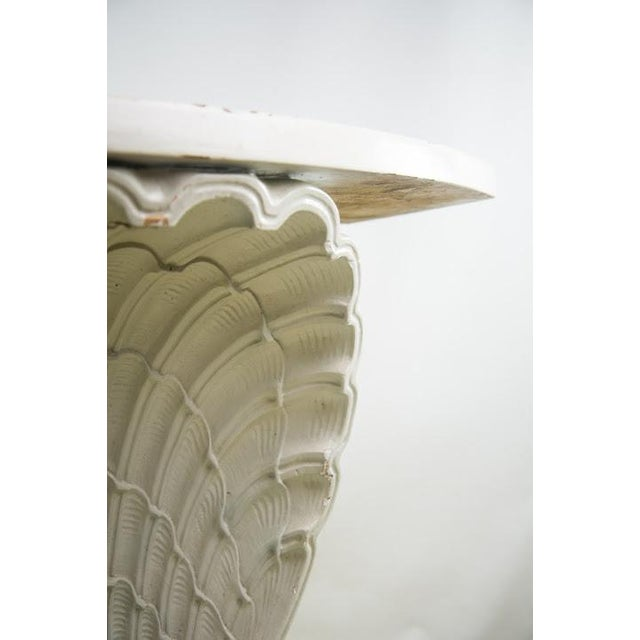 Nautical Seashell White Lacquered Entryway Table - Image 6 of 11