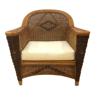 Vintage 1930s Art Deco Rattan and Wicker Chair
