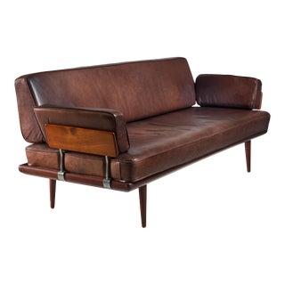 Peter Hvidt & Orla Mølgaard Nielsen Sofa with Brown Leather Cushions, Denmark