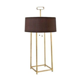 Four Post Gold Leaf Table Lamp