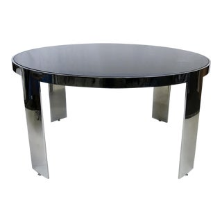Polished Nickel Center Table by Pace
