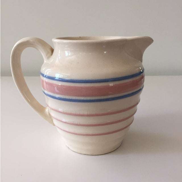 Image of McCoy Blue and Pink Striped Pitcher