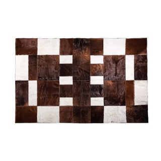 """Aydin Cowhide Patchwork Accent Area Rug - 6'6"""" x 9'10"""""""