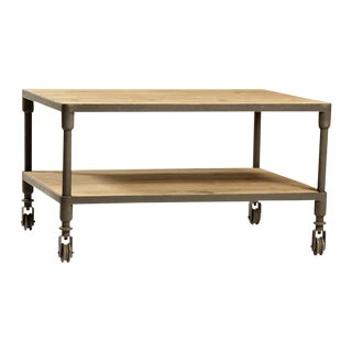 Wood & Iron Coffee Table Cart