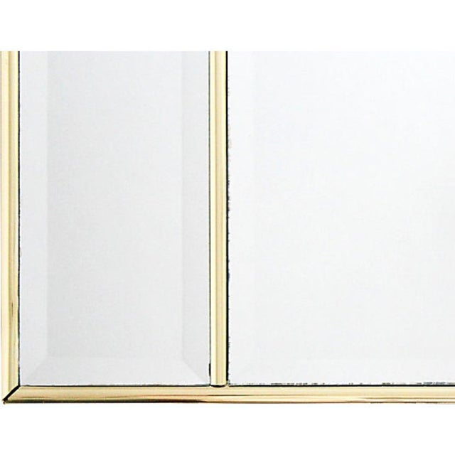 Arched Mirror with Beveled Panels | Chairish