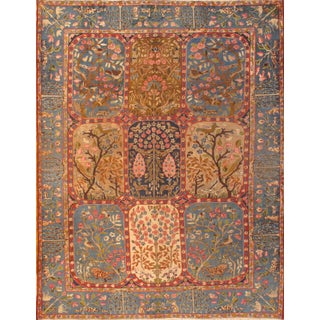 "Pasargad NY Antique Persian Kerman Hand-Knotted Rug - 8'6"" x 11'1"""