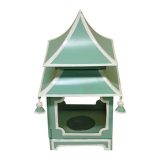 Hand Painted Tole Pagoda Lantern