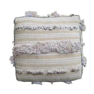 White Moroccan Floor Pillow