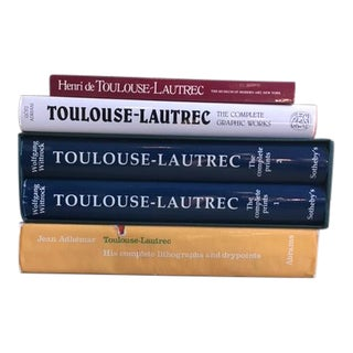 Toulouse Lautrec Art Books - Set of 5