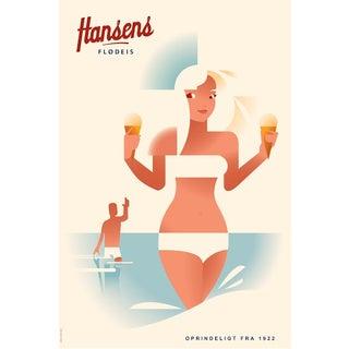 "Contemporary Danish ""Hansens Flødeis"" Poster"