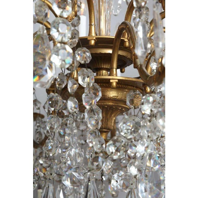 Crystal & Bronze 18-Light Chandelier from the Ritz Carlton on Palm Beach - Image 10 of 10
