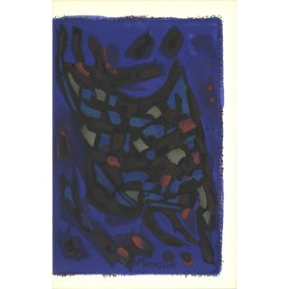 """First Edition Prints from the Mourlot Press: """"Composition"""" by Alfred Manessier, 1964"""