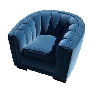 Blue Velvet Tub Chair