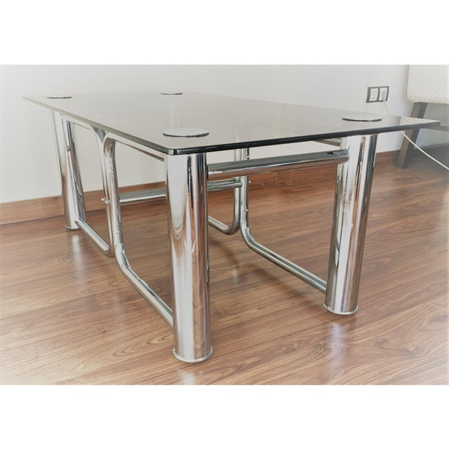 Mid Century Chrome Coffee Table: Mid-Century Modern Chrome Coffee Table