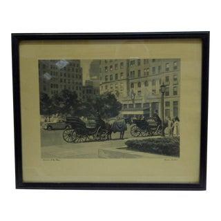 "Vintage Original Framed Print ""Hanson's at the Park"" by Fermin Rocker"