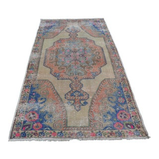 Handmade Antique Oushak Turkish Rug - 4′3″ × 7′10″