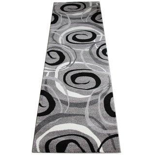 Gray Circles Rug - 10' Runner Rug