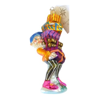 Christopher Radko Elf w/Boxes Ornament