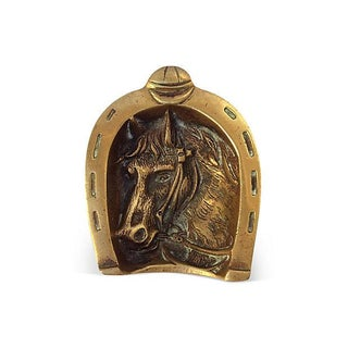 English Equestrian Brass Catchall