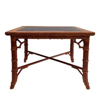 Faux Bamboo Dining Card Table