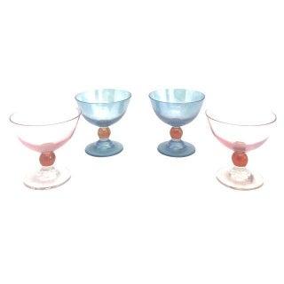 Blue & Pink Parfait Dishes - Set of 4