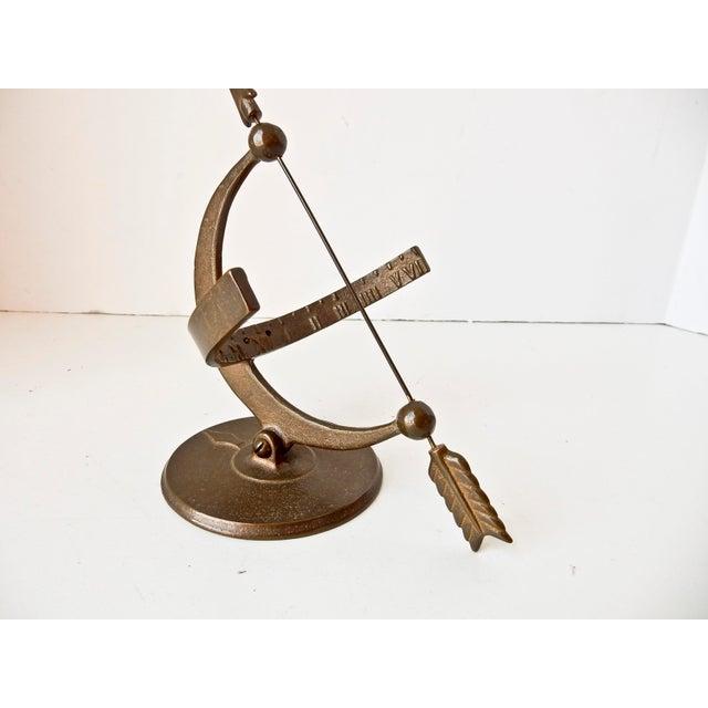 Vintage Bronze Sun Clock - Image 6 of 7