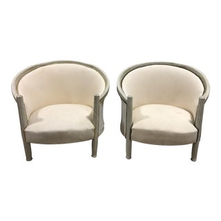 Vintage Upholstered French Provincial Chairs - A Pair