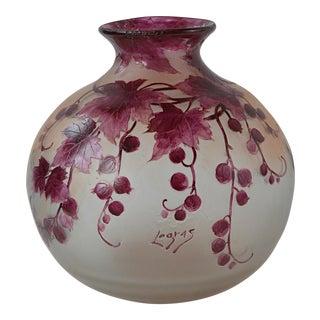 French Art Nouveau Legras Vase