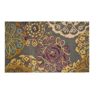 Cotton Print Felt Embroidered Rug - 2″ × 4″
