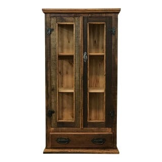 Reclaimed Wood & Glass Display Cabinet