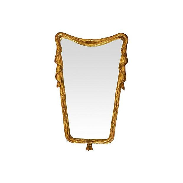 Italian Draper-Style Swag Mirror - Image 1 of 3