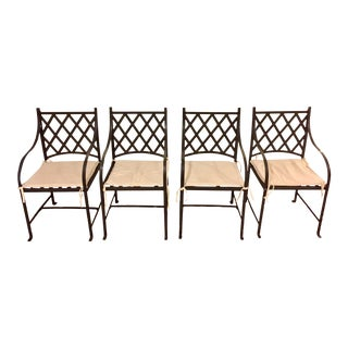 Wrought Iron Chairs - Set of 4